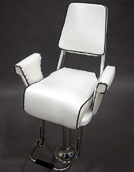 White Polymer Helm Chair