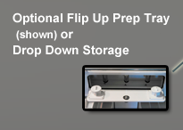 Leaning Post Drop Down Storage
