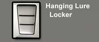 Hanging Lure Locker on Leaning Post