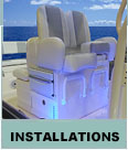 Custom Boat installations - Chairs, Boat Consoles, Leaning Posts, Rocket Launchers and more