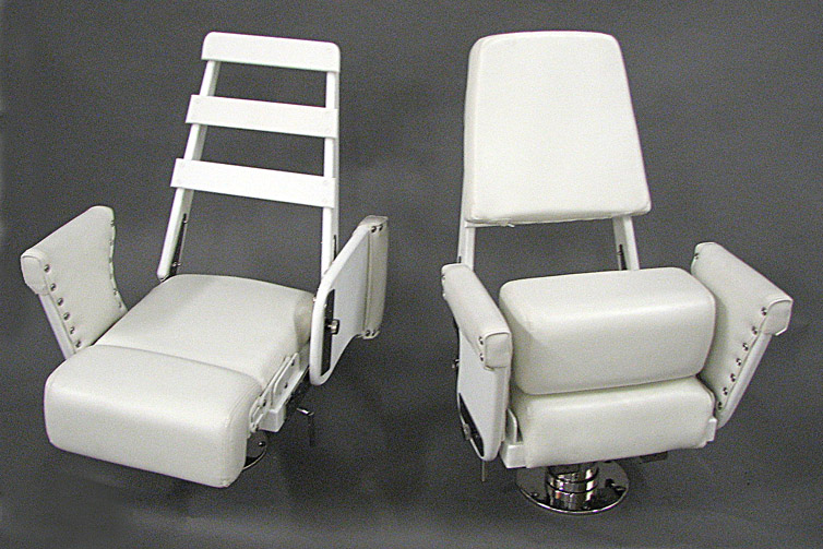 MOdel HC Helm Chairs with Flip Up Bolsters
