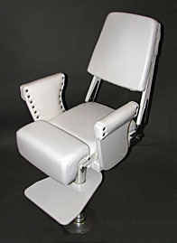 Helm Chair with Flip Up Bolster - Down Position