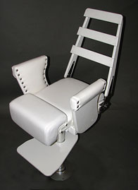 Helm Chair with Flip Up Bolster