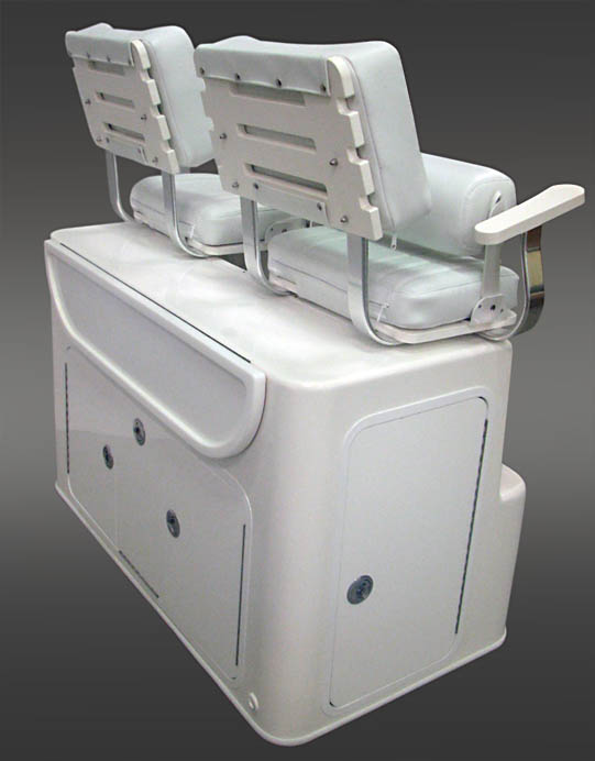 Custom seating option on super leaning post - Another quality product for your fishing boat from Nautical Design