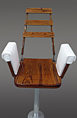 White Helm Chair for Fishing Boat