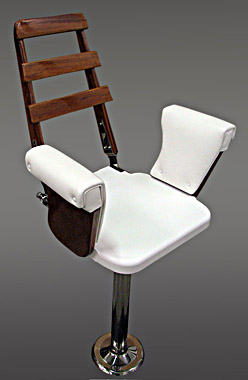 Helm Chair w aluminum footrest