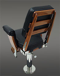 Helm Chair with full exposed teak back