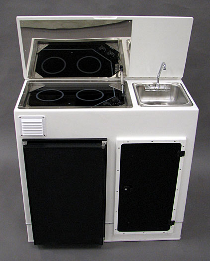 Custom Boat Console Includding Wet Bar Gas Grill And Fridge